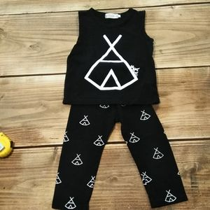 Girls (2t-3t) TeePee Boutique Outfit
